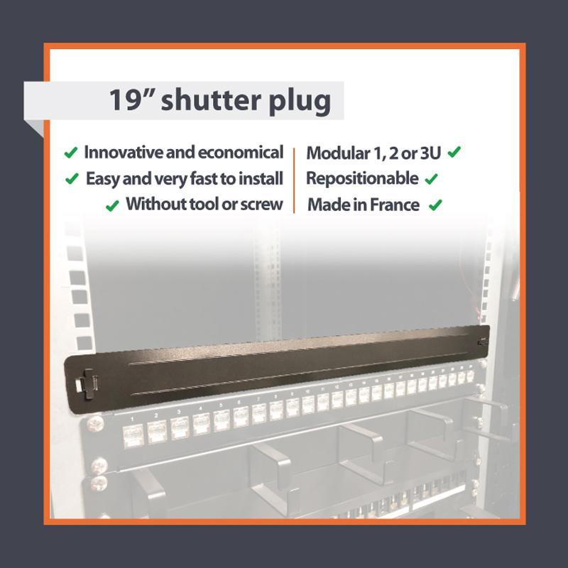 """1U 19"""" shutter plug"""