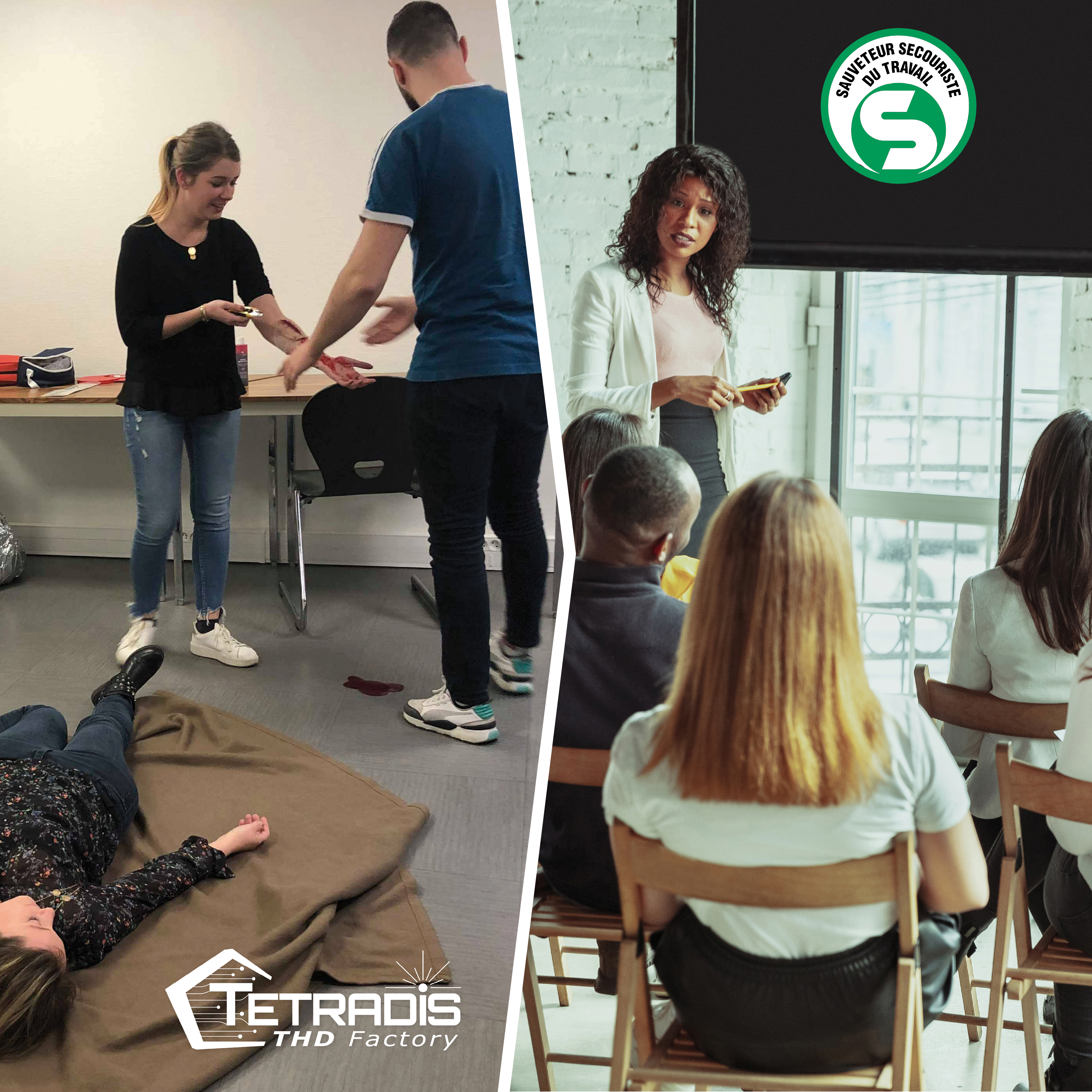 TETRADIS' employees are trained in first aid